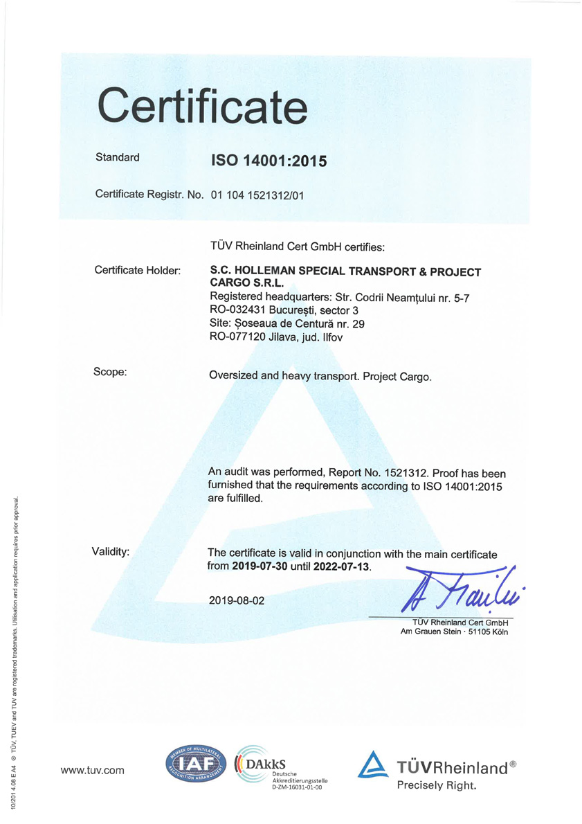 certificare iso 14001-2004